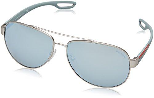 Prada Sport PS55QS QFP5K2 Silver Rubber PS55QS Aviator Sunglasses Lens - Aviators Prada