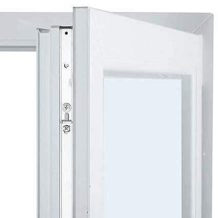 Vidrio doble hoja Climalit Practicable Balconera PVC 90 cm x 220 cm Alto aislamiento termico y acustico Con persiana 1 hoja
