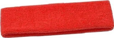 Terry Cloth Headband Various Colors Sweatband (Red)