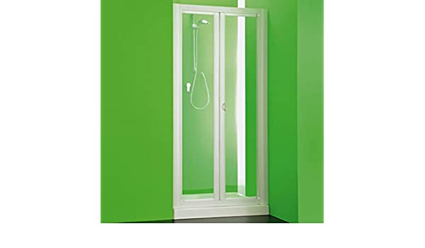 Box puerta hueco ducha, tamaño cm.83 – 88, cabina Puerta a libro dos puertas blanco de PVC: Amazon.es: Bricolaje y herramientas