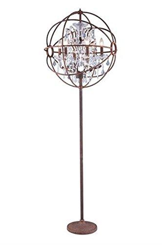 Sophisticated Iron Chandelier (Metro Rustic Iron Modern 6-Light Floor Lamp Heirloom Handcut Crystal in Crystal (Clear)-800FL24RI-RC--24