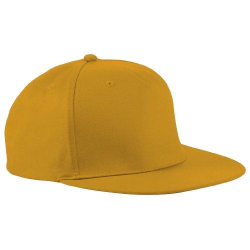 Beechfield - Gorra/Visera diseño Rapero/Rapper/Hip Hop/NBA 5 Paneles Modelo Retro Amarillo