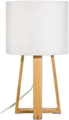 marque Atmosphera, créateur d'intérieur Lampe Pied Bois Molu Blanc