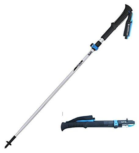VOGUE CODE Super-light Portable Trekking Poles Foldable Hiking Walking Stick with EVA Foam Handle (white, l)