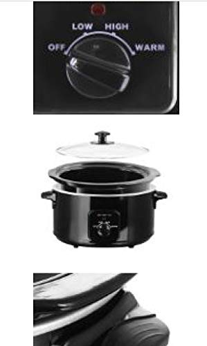 Schongarer 4,5l SC-109678-1 Schwarz Slow Cooker Emerio Waves Langsamkocher