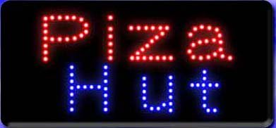 HIDLY LED Pizza Hut Open Light Sign Super Bright Electric Advertising Display Board for Business Shop Store Window Bedroom 19 x 10 inches