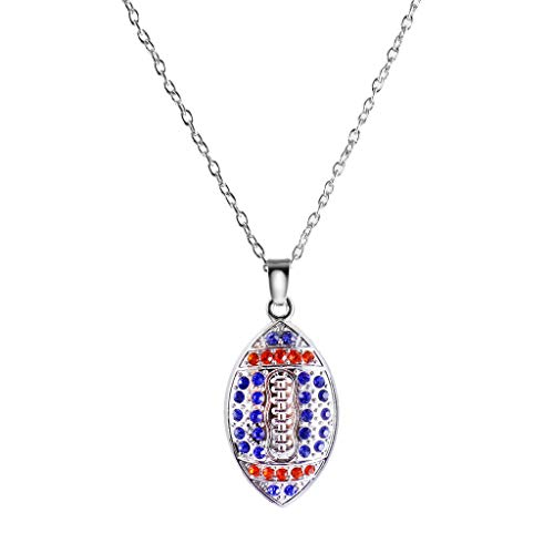 American Football Necklace Crystal Rugby Pendant Sport Unisex Jewelry Necklace Jewelry Crafting Key Chain Bracelet Pendants Accessories Best