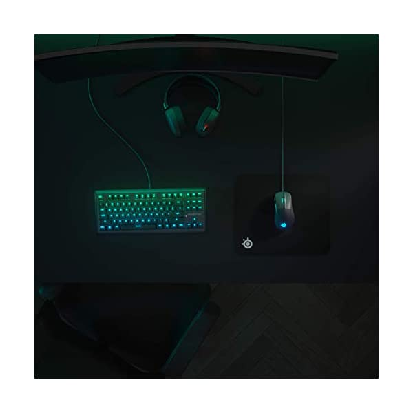 SteelSeries QcK Gaming Surface - Medium Hard - Minimal Friction - Enhanced Surface Texture - Optimized for Gaming…