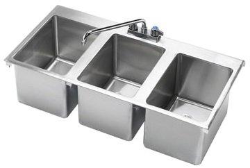 Krowne, Model Hs-3819; Krowne Drop-In Hand Sink, 3 Compartment
