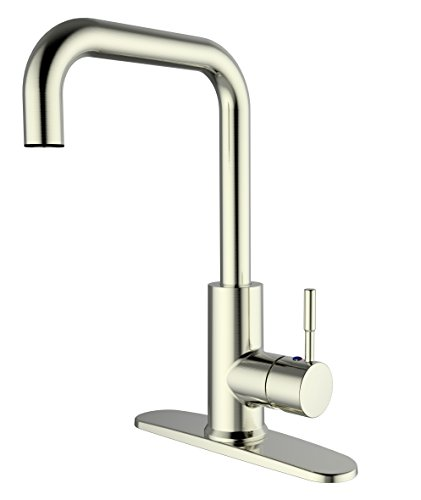 Aquatrend Practical Kitchen Sink Faucet,Solid Build,Single Handle,Vertical Design,Water-Saving,Strong Flow,360 Degree Rotatable,FO3C,Brushed Nickel