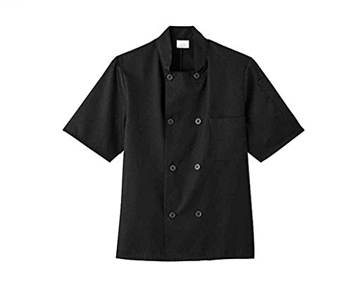 Five Star 18001 Unisex Short Sleeve Chef Jacket (Black, Small) from Five Star