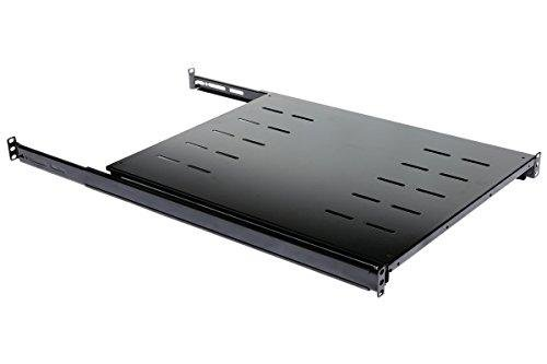 Rising Sliding Fixed Rack Server Shelf 1U 19'' 4 Post Rack Mount-Adjustable 24''-32''