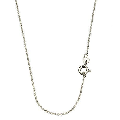 m Fine Cable Nickel Free Chain Necklace Italy 18 Inch (Loop Sterling Silver Chain)