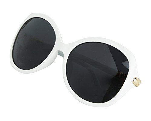 Oversized Polarized Sunglasses For Women Butterfly White Womens - Oversized Sunglasses White