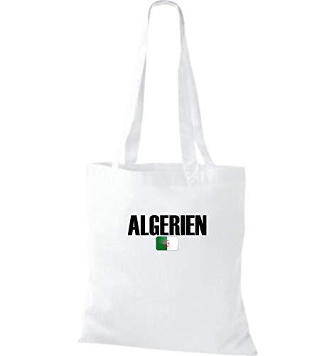 Jute Sac Tissu Algérie Football Shirtstown Pays En Blanc Land wxpTWz