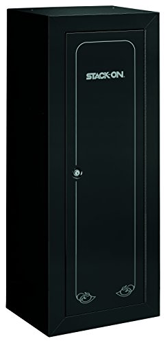 - Stack-On GCB-1522 Steel 22-Gun Security Gun Cabinet with Foam Barrel Rests, Black