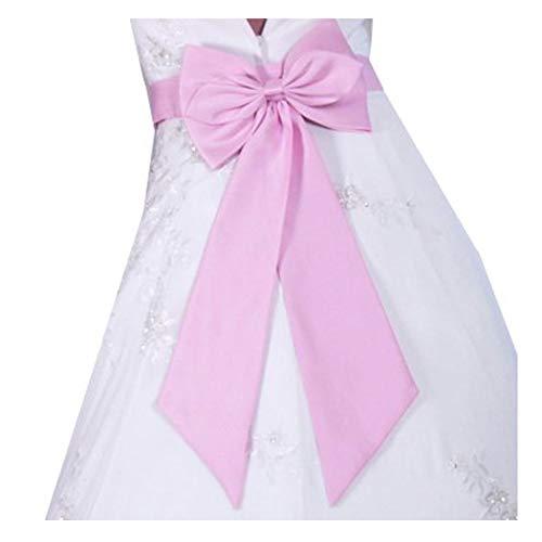 SACASUSA (TM) Bridal Wedding Flower Girl Sash Belt with Satin Bow in Pink