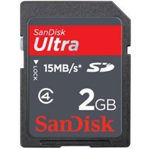 SanDisk SDSDH-002G-A11 2GB/15MB Ultra Class 4 SD (Speed 2gb Sd Card)