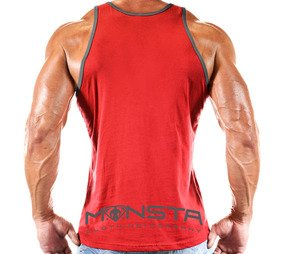 Monsta Muscle Symbol Tank Red
