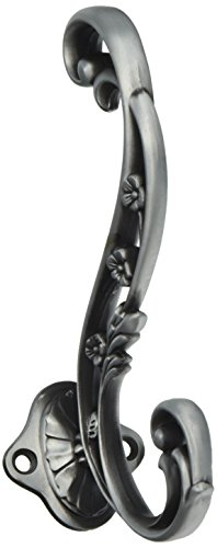 Hickory Hardware P2133-SPA 5-3/4-Inch Art Nouveau Hook, Satin Pewter Antique Art Nouveau Door Furniture
