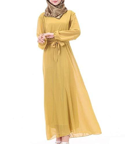 Lungo Abito Pattern4 Phelion Maxi Arab Con Musulmano Cintura Oversize Long PwvNny8m0O