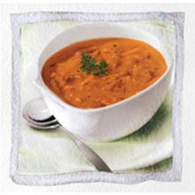 Stockpot Frozen RTS Roasted Red Bell Pepper and Smoked Gouda Bisque - 4 lb. pouch, 4 per case (Roasted Red Pepper And Smoked Gouda Soup)