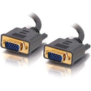 (C2G 28243 VGA Cable - Flexima VGA Monitor Cable M/M, In-Wall CL3-Rated, Black (6 Feet, 1.82 Meters))