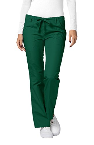 Drawstring Straight Leg Pant - Adar Universal Womens Low-Rise Multipocket Drawstring Straight Leg Pants - 510 - Hunter Green - S