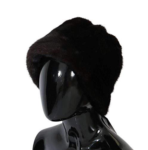 Dolce & Gabbana Brown Cashmere Mink Fur Hat