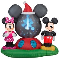 Disney Mickey & Minnie Airblown Panoramic Projection (Outdoor Christmas Decorations Wholesale)