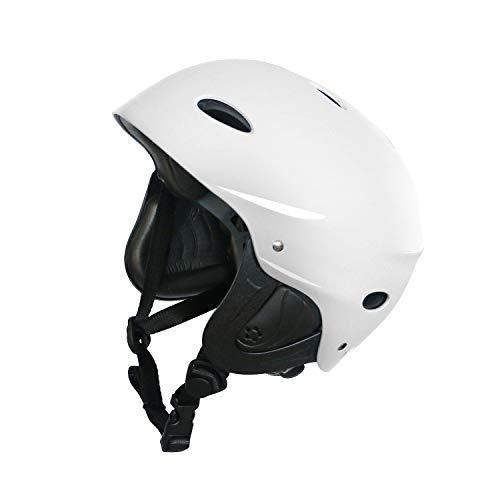 Vihir Adult Water Skate Bike Helmet Multi Sports Skateboard Scooter Men Women Dial Helmet (Bright White, ()