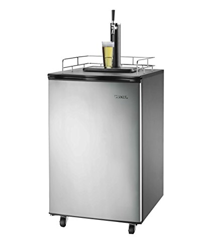 Versonel Freestanding Full Size Kegerator Keg Fridge Beer Dispenser Stainless Steel SPP155BDSS