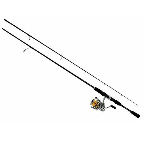 Daiwa REV25-4BI/G702M Revros Combo 2500 Reel 4BB Infinite Graphite Medium Rod (2 Piece), 7' Daiwa Graphite Reel