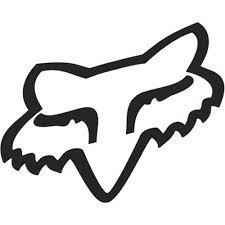 Bumper Sticker Fox Racing Head Sticker Decal Vinyl in Black PT INDOPEMA