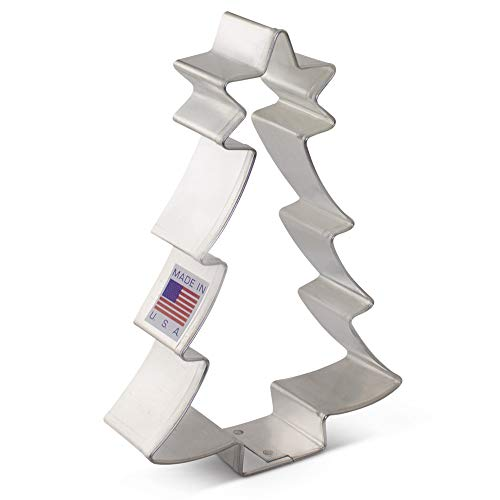Ann Clark Cookie Cutters Christmas Tree with Star Cookie Cutter, 4.5