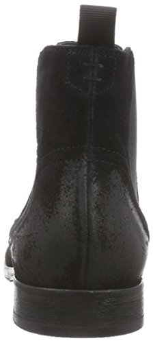 Hombre H De Hudson Entwhistle Formal Smart Office Office Suede Chelsea Botas Negro