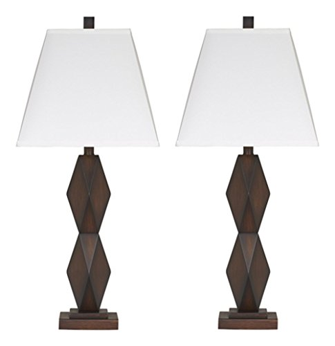 Ashley Furniture Signature Design - Natane Table Lamp - Contemporary - Set of 2 - Dark Brown