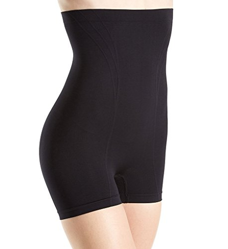 Body Wrap Retro Lites High-Waist Shaping Boyshort (6101242) XL/Black (Body Wrap Lites)