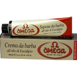 Omega Shave Shaving Cream Soap Travel Size Tube