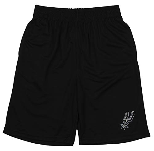 (Outerstuff NBA Youth (8-20) San Antonio Spurs Basic Team Color Short, Black Small (8))