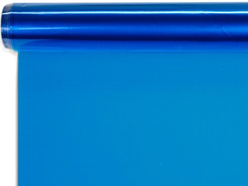Solid Color Cello Rolls - 40''x100' Blue Cello Roll 1.0 mil (3 rolls) - WRAPS - CR40B by Miller Supply Inc