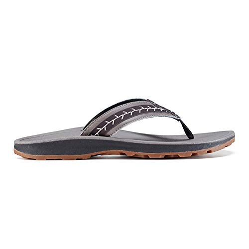 (Chaco Playa Pro Leather Flip Flop - Women's Gray, 7.0)