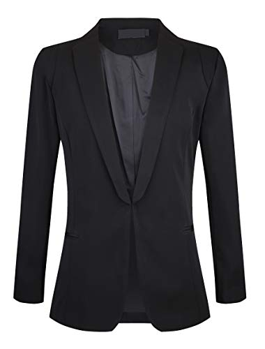SHUIANGRAN Fall Winter Slim Office Suit Blazer for Women Black US 6 (tag Asian XL)
