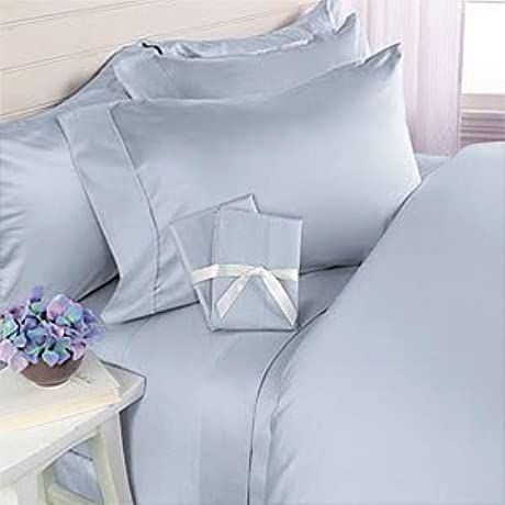 600 Thread Count Twin XL Siberian Goose Down Alternative Comforter 600FP 50oz With 100 Natural Combed Cotton Plain Solid Damask Cover Blue