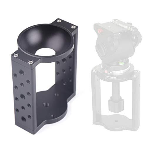 65mm 75mm Half Ball Flat to Bowl Adapter Converter for Camera Tripod Fluid Head for DSLR Camera Camcorder Tripod Monopod ()