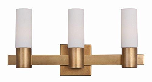 Maxim Lighting 22413SWNAB Three Light Vanity, Natural Aged Brass