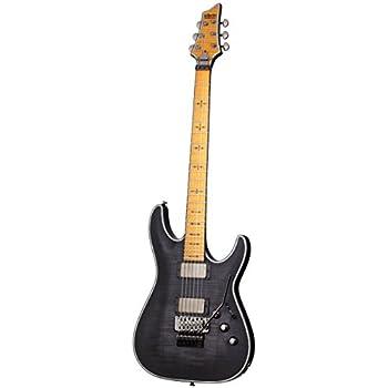 schecter hellraiser c 1 fr extreme 6 string electric guitar see thru black satin. Black Bedroom Furniture Sets. Home Design Ideas