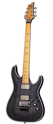 Schecter Hellraiser C-1 FR Extreme 6-String Electric Guitar, See-Thru Black Satin ()