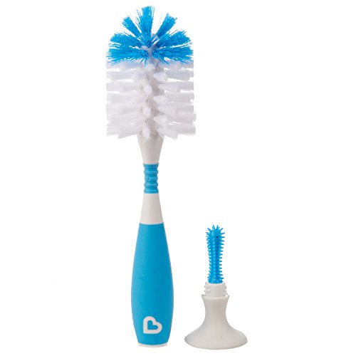 Munchkin Bristle Bottle Brush, Blue