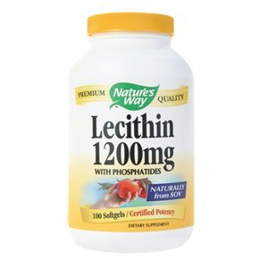La lécithine Natures Way, 1200mg 100 Capsules